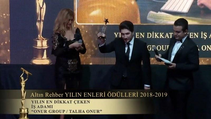 2019 Yılın İşadamı Ödülü TALHA ONUR'A VERİLDİ.