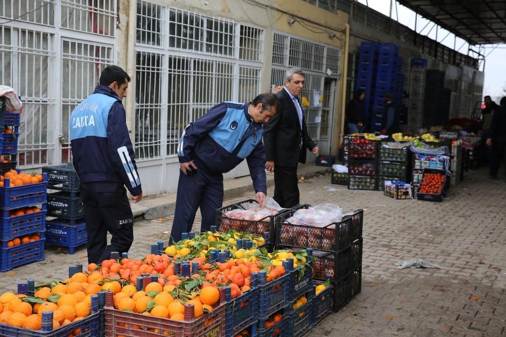 Mardin'de sebze hali ve marketlere fiyat denetimi
