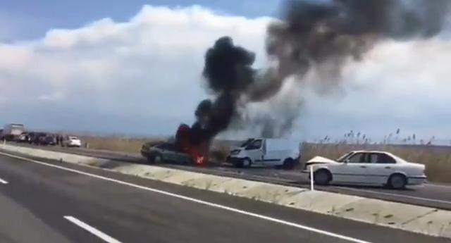 Diyarbakır'da zincirleme trafik kazası: 5 yaralı