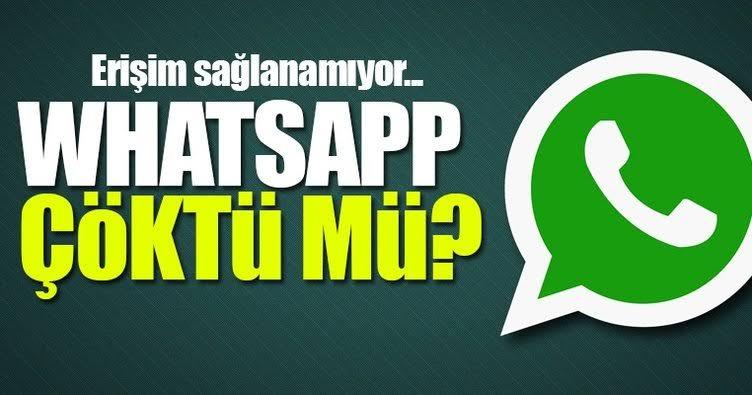 Whatsapp çöktümü?