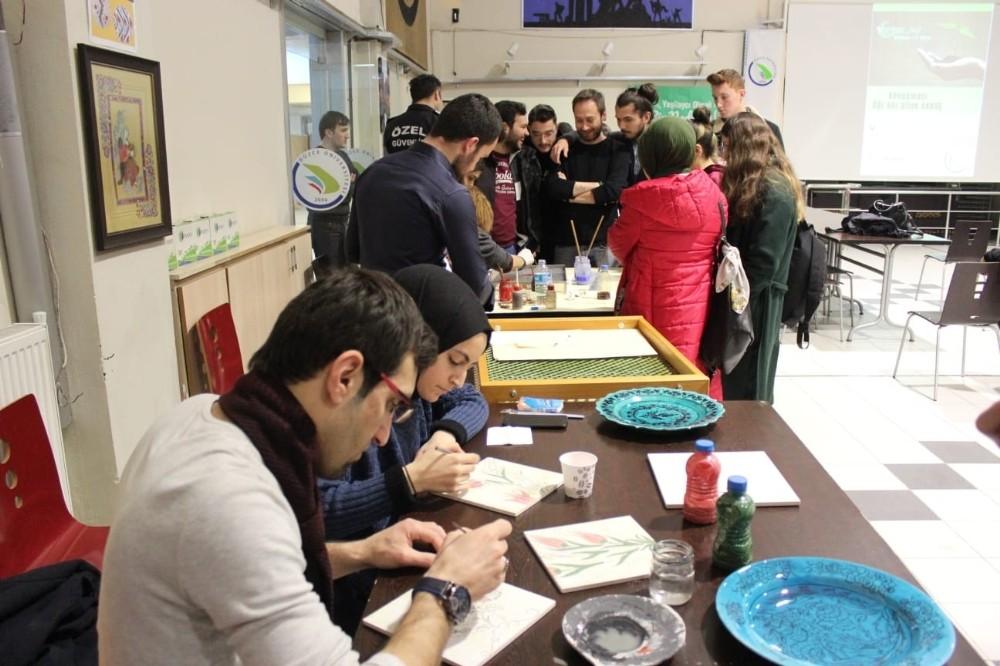 Ebru ve Çini etkinliği gerçekleştirildi